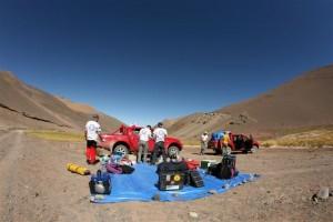Pierwszy obóz/ Our first camp